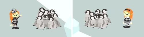 ジャイアントペンギンの赤ちゃんたち