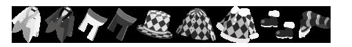 白黒の革 装備品