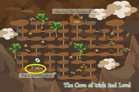 すごろくステージ13 試練の洞窟 第二階層 地図
