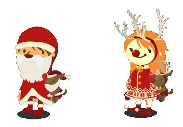 クリスマスモンスターぬいぐるみ