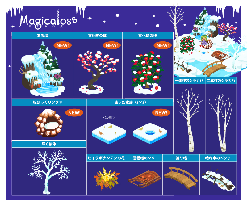 冬の植物シリーズ+