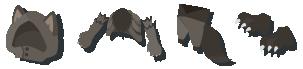 黒狼の毛皮 装備品
