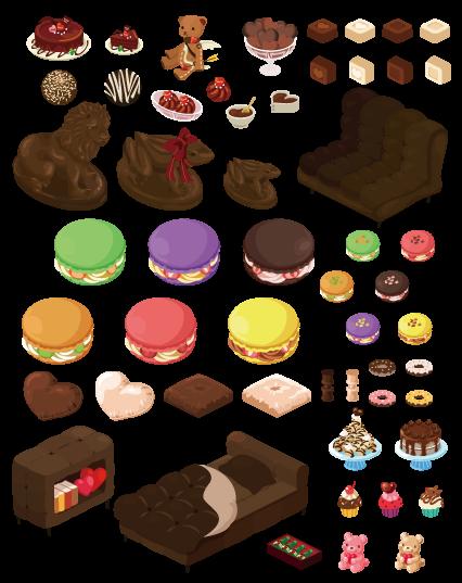 スウィートチョコレート合成家具