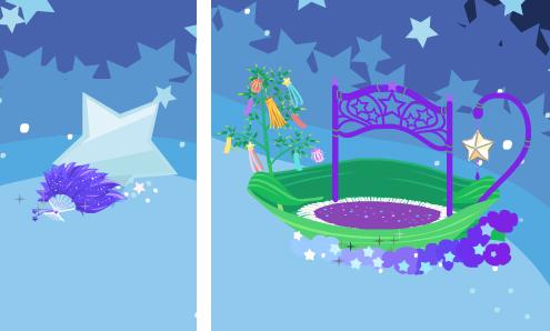 織姫の扇子と天の笹舟
