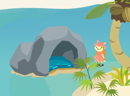 蒼の海岸ゴールマスの洞窟